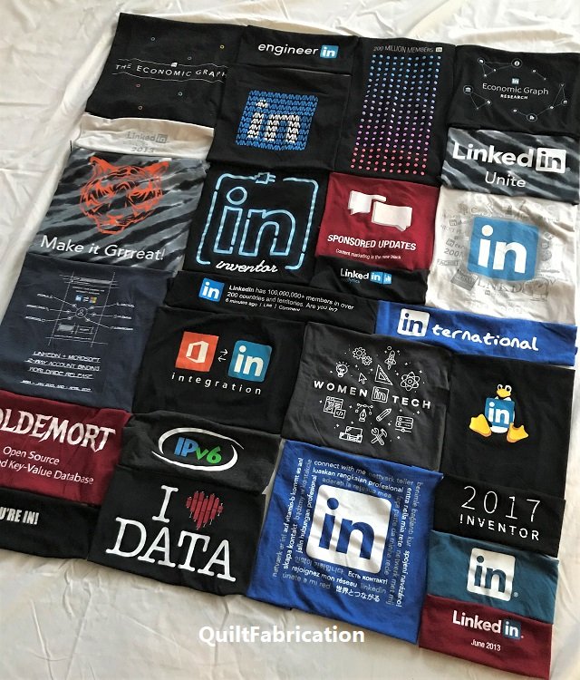 LinkedIn t-shirt layout
