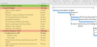 SAP Project Plan Template MPP