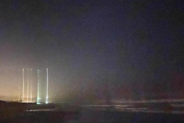 luzes estranhas no céu de santa catarina