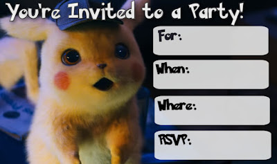 detective pikachu birthday party