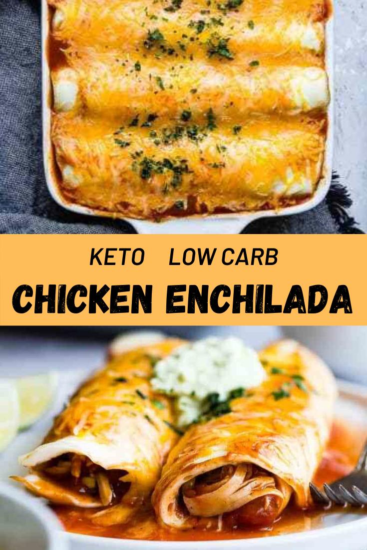 Keto Low Carb Chicken Enchilada