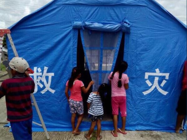 Estas son las mega tiendas de campaña que China envía México (FOTOS)