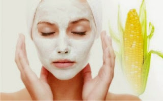 Benefits And Efficacy Of Corn For  Beauty And How To Make a mask for the face made from corn - healthy t1ps