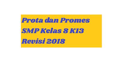 Prota dan Promes SMP Kelas 8 K13 Revisi 2018