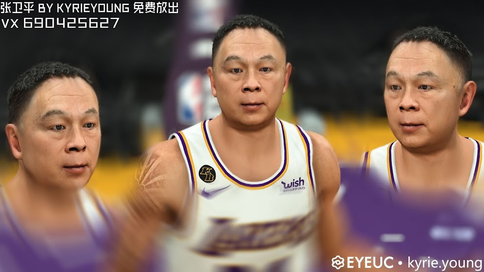 Weiping Bryant Cyberface and Body Model by Kyrie.young [FOR 2K21]