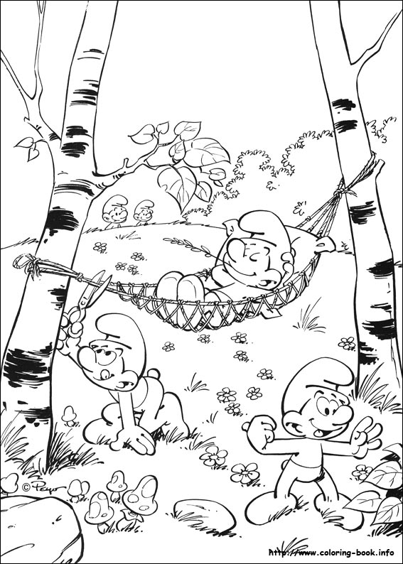 Transmissionpress 12 Smurf Coloring Pages