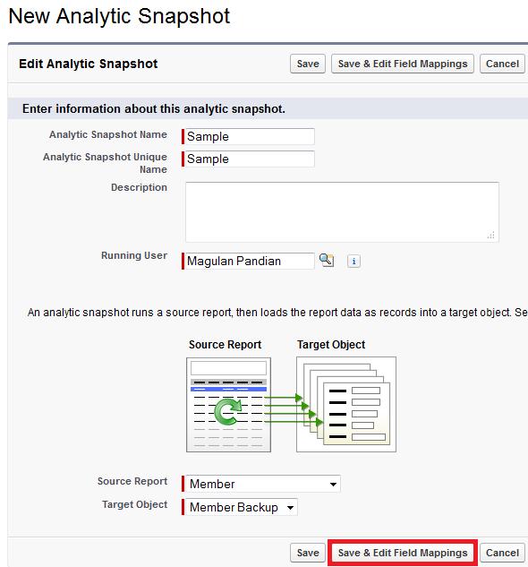 Infallible Techie: Analytic Snapshots in Salesforce