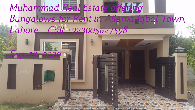 Muhammad Real Estate offering Bungalows for Rent in Allama Iqbal Town