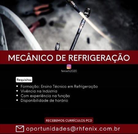 MECÃNICO DE REFRIGERAÇÃO