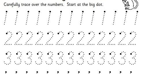 Number Names Worksheets » Trace Number Worksheets - Free Printable ...