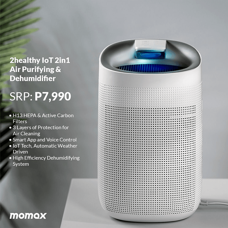 OMAX 2healthy IoT 2-in-1 Air Purifier and Dehumidifier