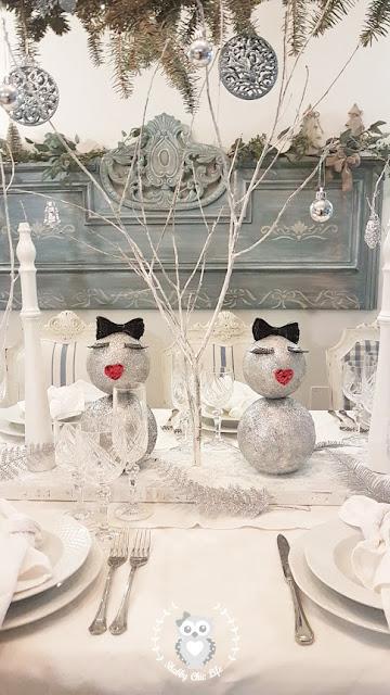 capodanno, tavola,  natale, shabby chic, decorazione