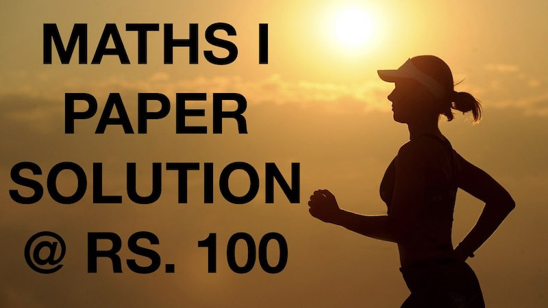 MATHS 1 PAPER SOLUTION FOR BOARD EXAM