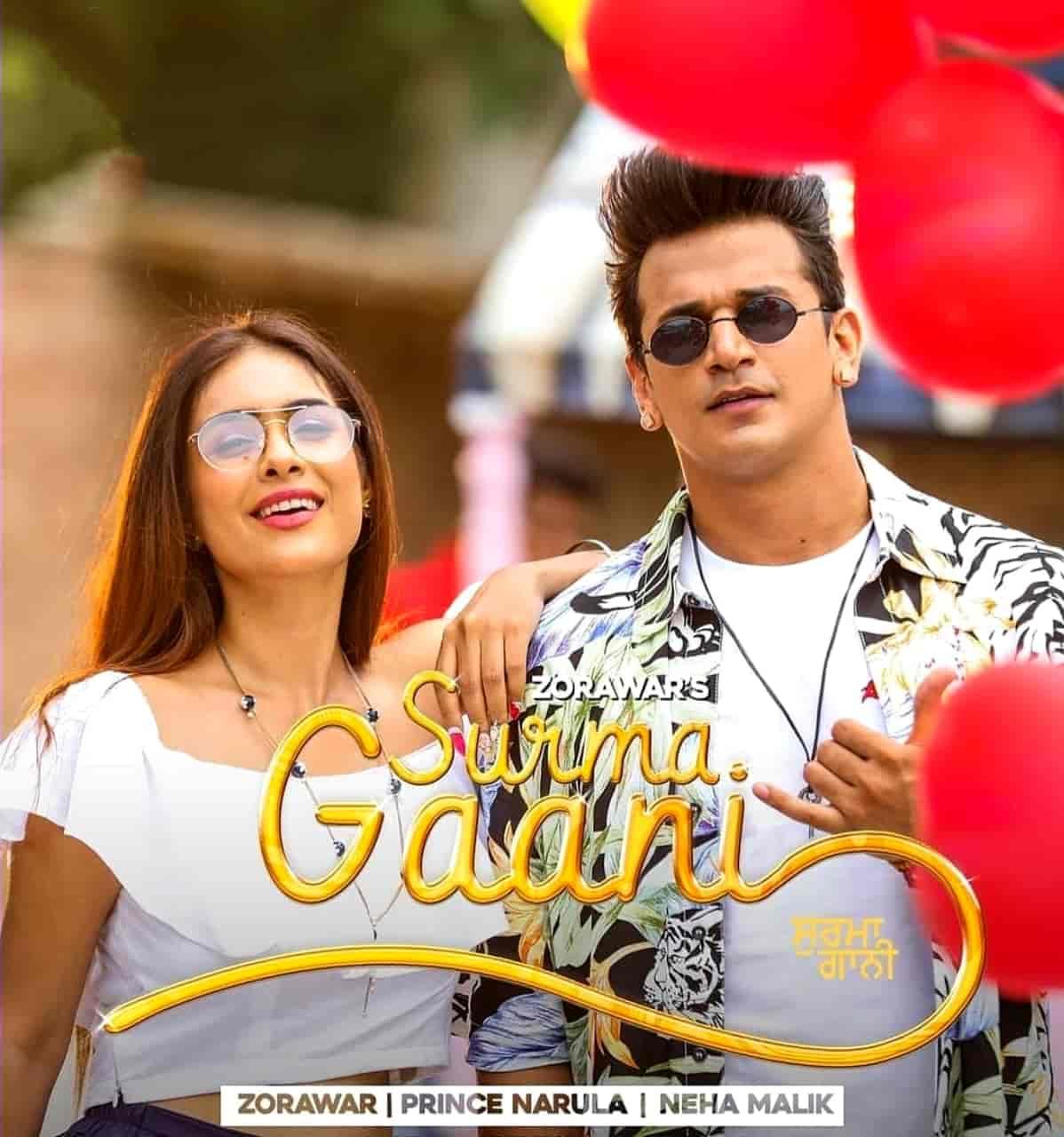 Surma Gaani Punjabi Song Image Features Prince Narula and Neha Malik sung by Zorawar