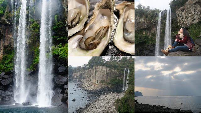 visit JeongBang Waterfalls in Jeju