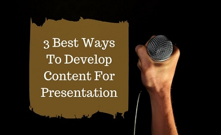 Write Content For Presentation