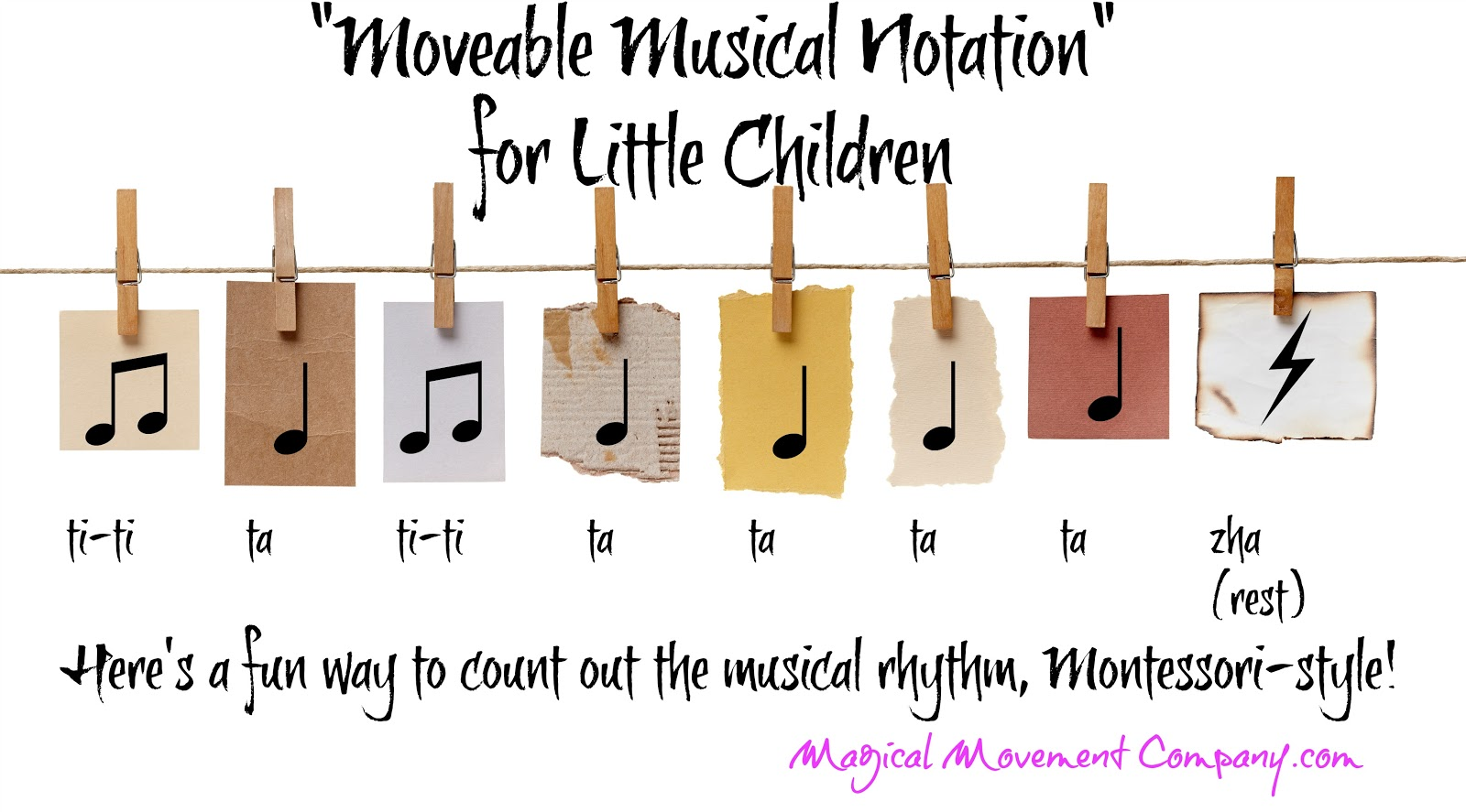 Music Notation Notes Quotmoveable Music Notes Quot Montessori Style Music Notation