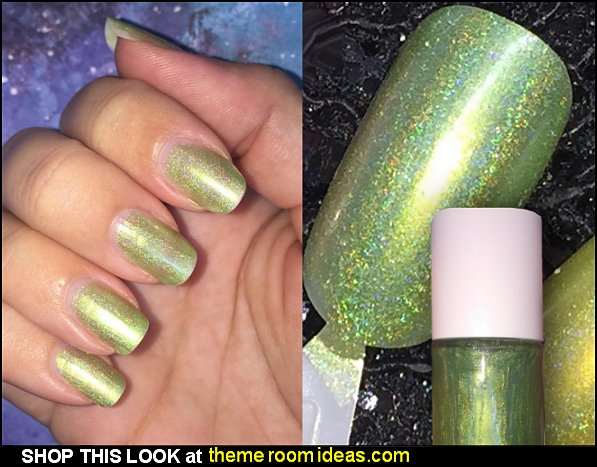 The Green Fairy - Lime Green Neon Holographic Nail Polish Tinkerbell Nails Tinkerbell Nail decorating