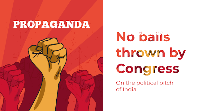 No Balls thrown by Congress on Political Pitch of India
