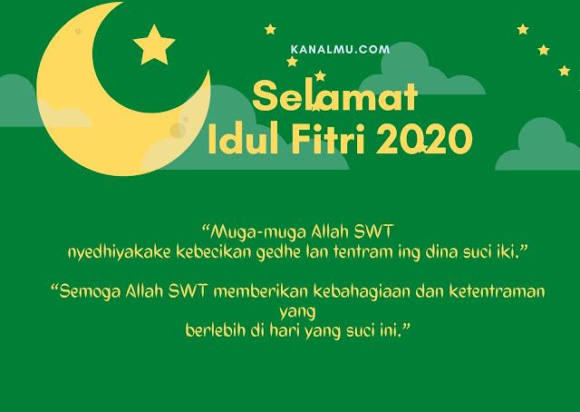 Gambar Ucapan Idul fitri Bahasa jawa