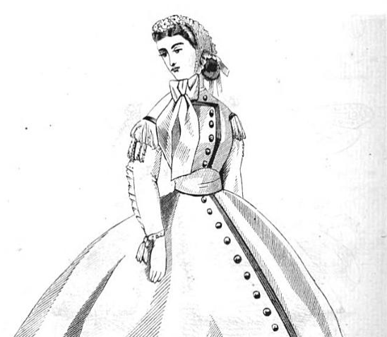 Dress from Peterson's Magazine, July 1865
