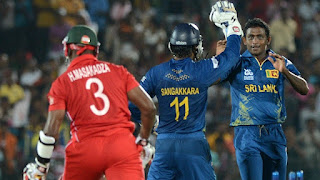 Ajantha Mendis 6-8 - Sri Lanka vs Zimbabwe 1st Match ICC World T20 2012 Highlights
