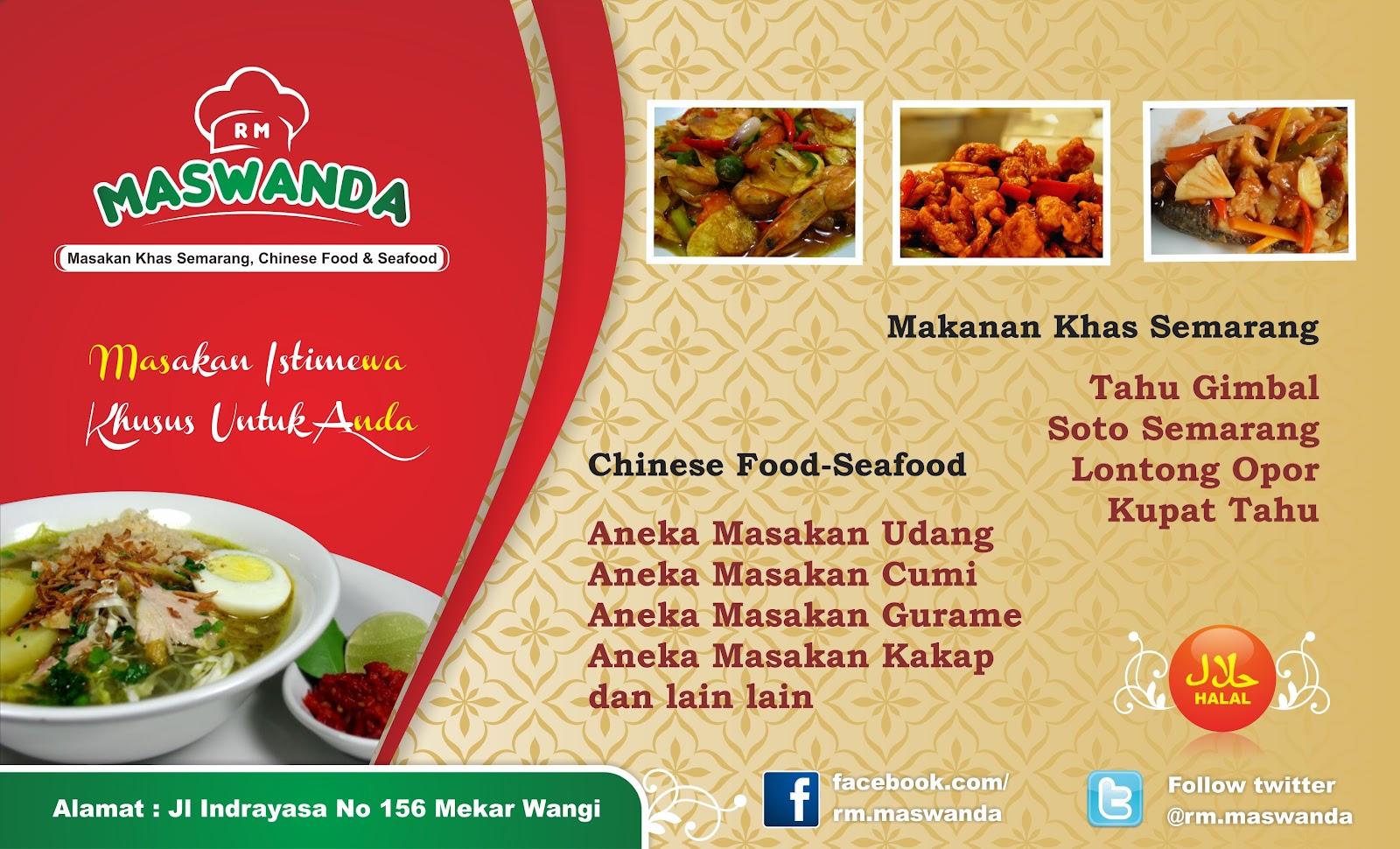 Desain Spanduk Rumah Makan Maswanda Bandung   Desain Bagus ...