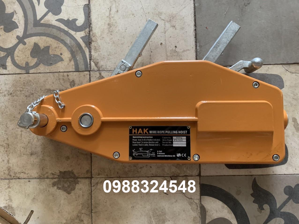 Tirfor căng cáp HAK, tải trọng: 0.8 tấn