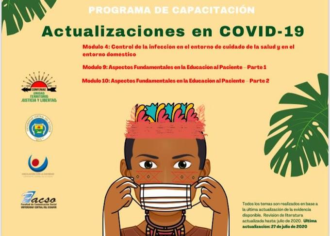 Actualización de conocimientos COVID19 para promotores de salud de las nacionalidades