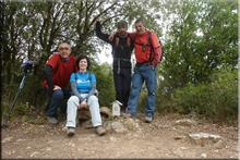 San Cristóbal mendiaren gailurra 885 m. -- 2017ko martxoaren 12an