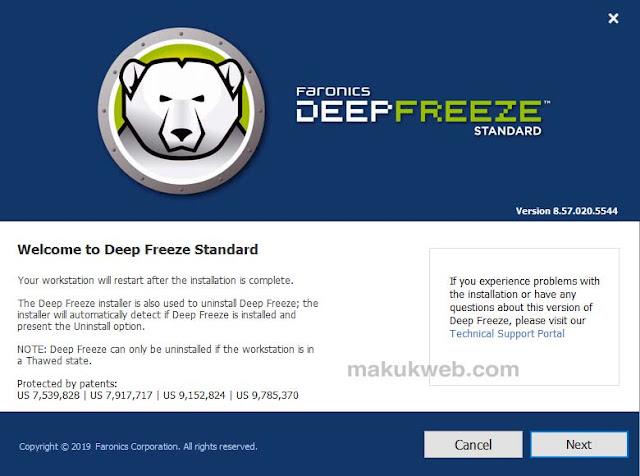 تثبيت برنامج ديب فريز ويندوز 10 8 7 xp