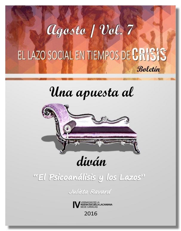http://jornadanelsedecaracas.blogspot.com.es/2016/08/una-apuesta-al-divan-n-7-boletin-de-las.html