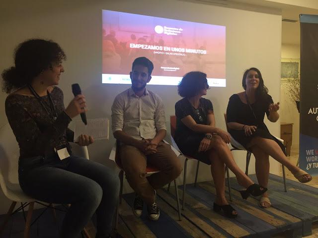 Mesa Redonda Javi Pastor, Rosa Morel, Lourdes Sanchez e Irene Rodrigo encuentro redactores digitales via Irene Milián