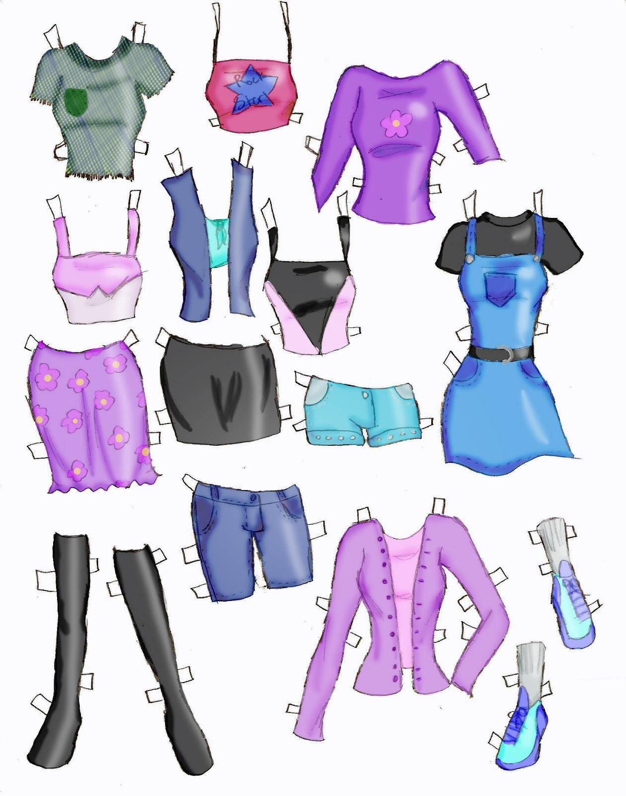 Miss Missy Paper Dolls: Clothes Part 1