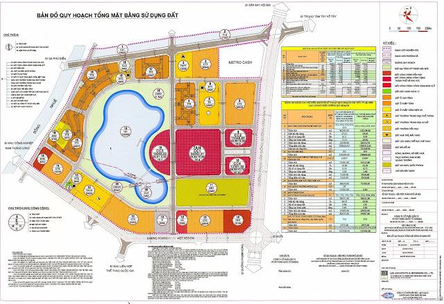 Bảng đồ quy hoạch Khu Ngoại Giao Đoàn