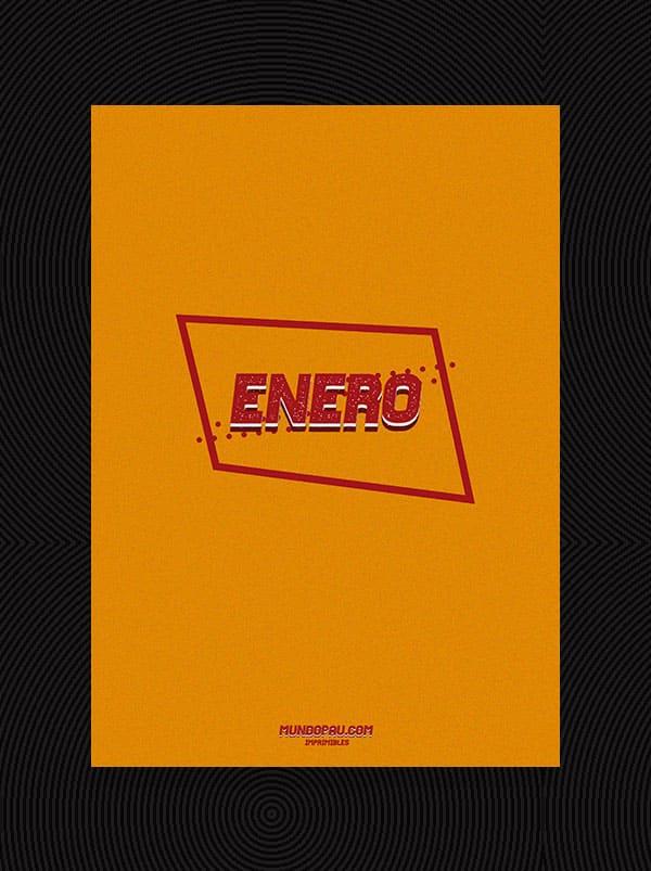 portada de meses de agenda 2021 para imprimir en vintage