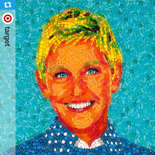 09-Ellen-DeGeneres-Jason-Mecier-Paintings-or-Sculptures-in-Portrait-Collage-www-designstack-co