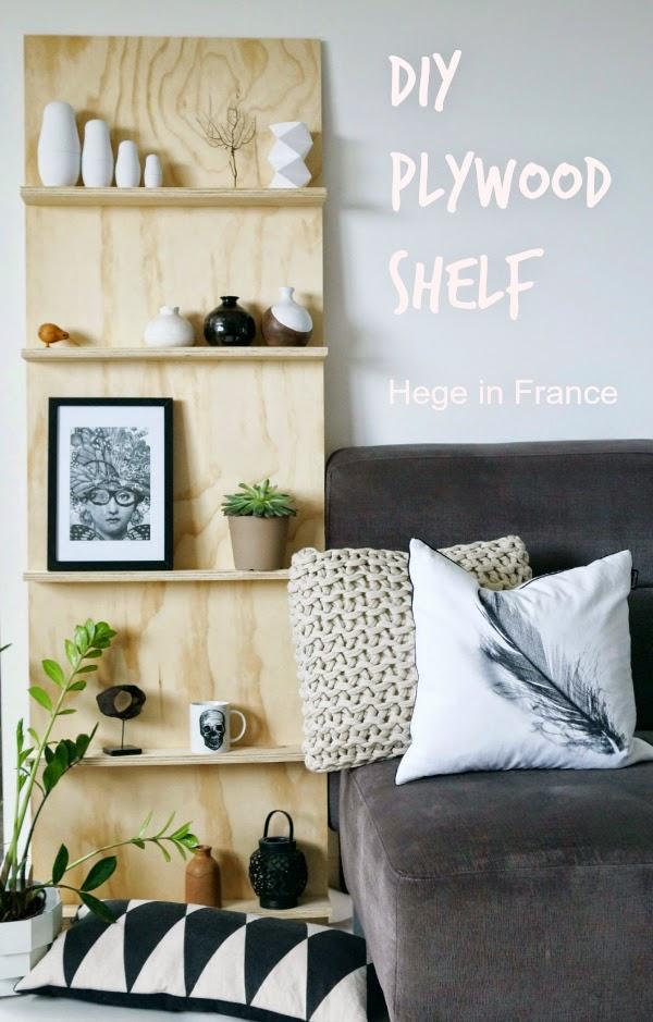 No blog Achados de Decoração: DIY ou Faça Você Mesa uma estante linda e simples