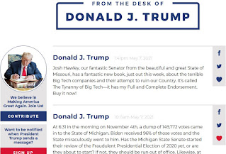 Donald Trump blog website