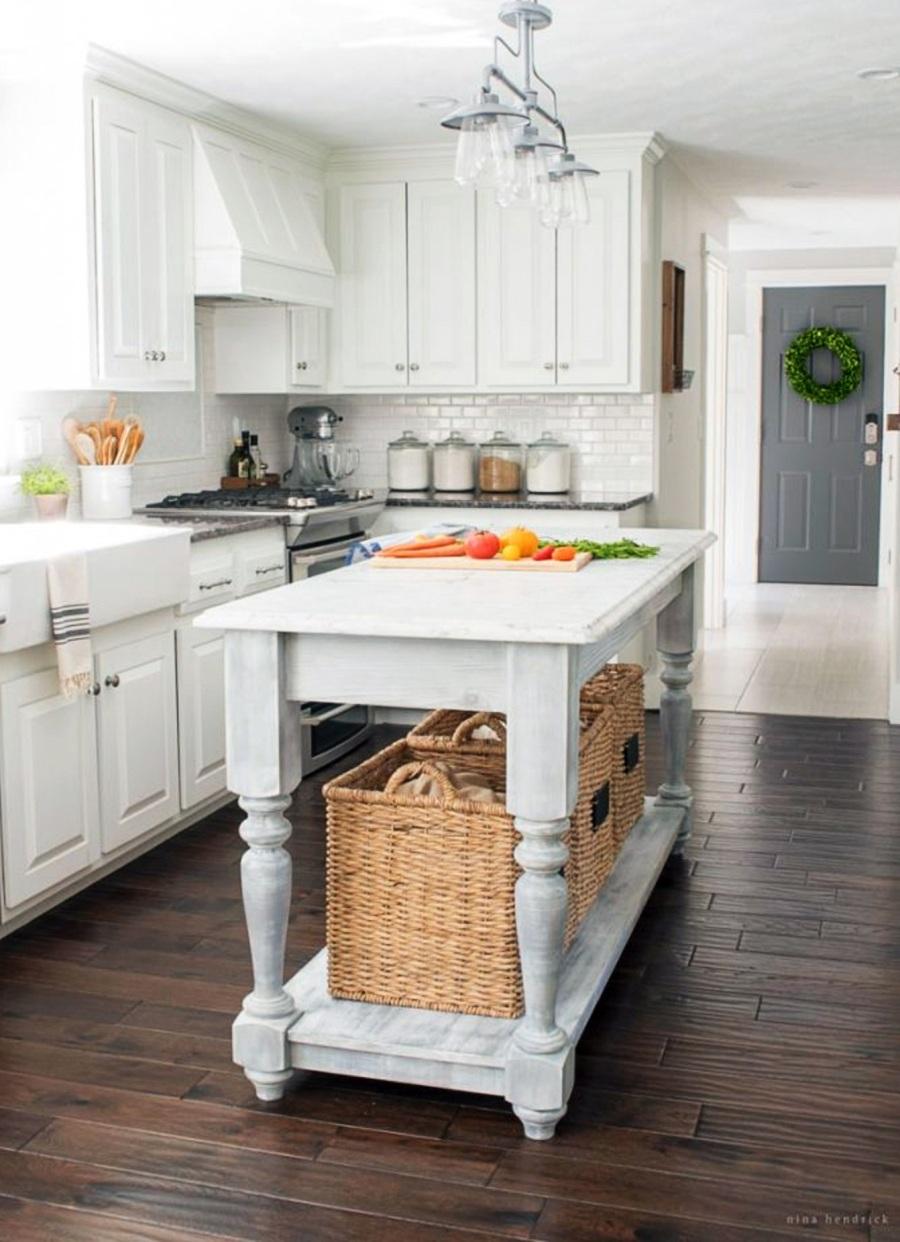 9 Idee fai da te per l'isola in cucina dipingendo vecchi mobili