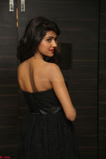 Shalu Chourasiya in spicy Sleeveless Strapless Black Top at O Pilla Nee Valla Movie Audio Launch Feb 2017 052.JPG