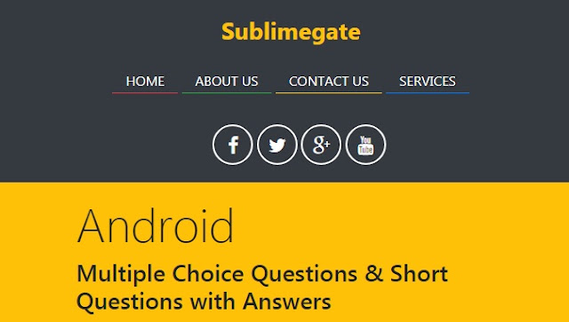 Android Upwork Fiverr Quiz With Answers Sublimegate