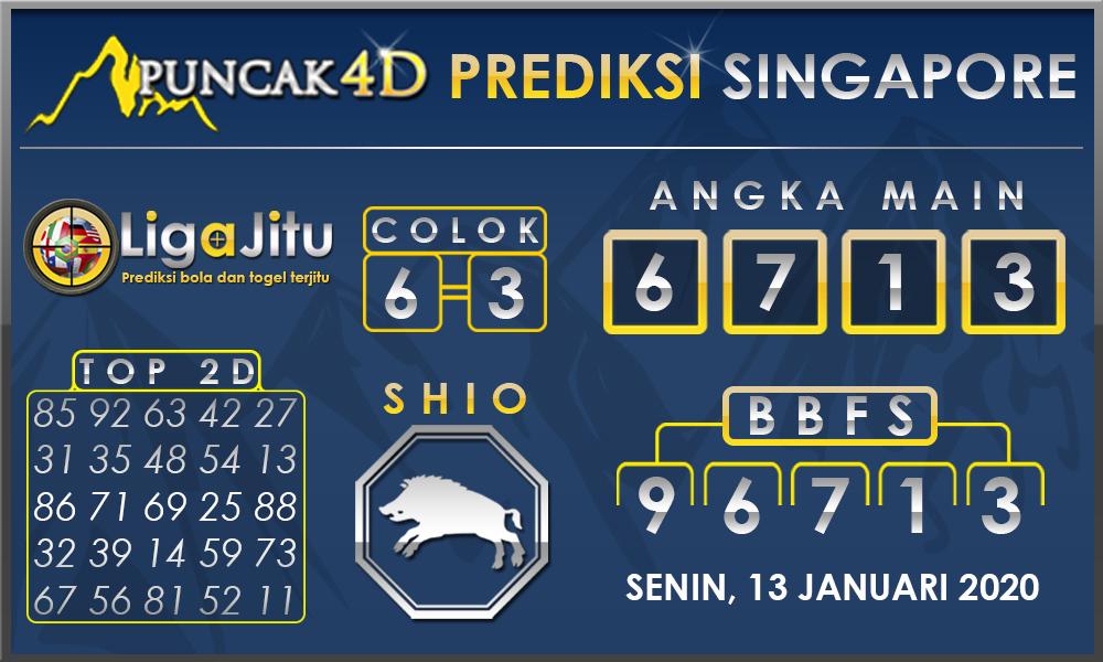 PREDIKSI TOGEL SINGAPORE PUNCAK4D 13 JANUARI 2020