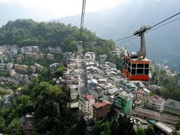 TAKE THE ROPEWAY RIDE TO GET A BIRD'S EYE VIEW OF THE GANGTOK CITY