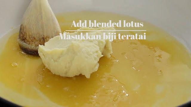 Add blended lotus paste