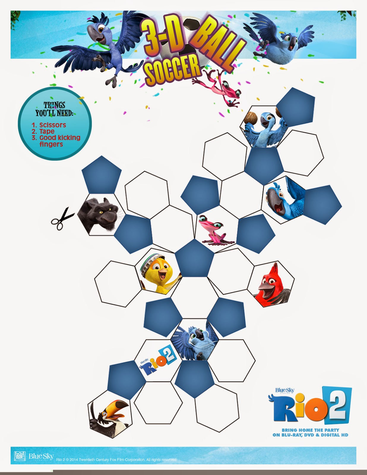 A Geek Daddy Have Some Soccer Fun With The Characters From Rio 2
