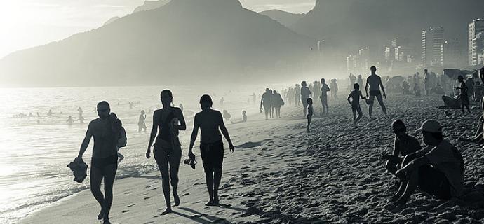 Río de Janeiro en Brasil la playa