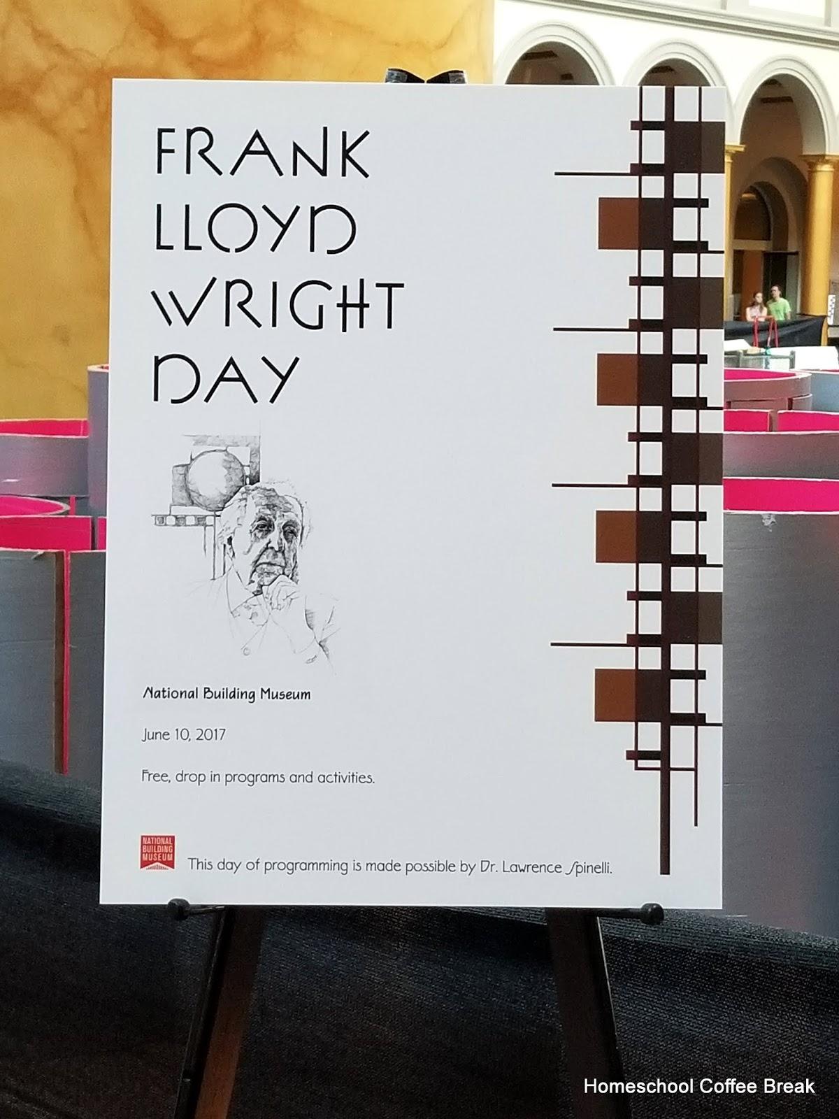 Homeschool Coffee Break Frank Lloyd Wright Blogging