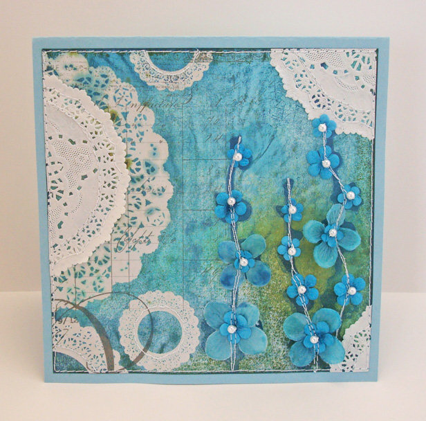 f142f5155e8e8a (patterned paper  pink paislee  mists and inks in various blues and greens   glimmer mist