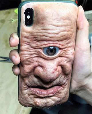 Spassbilder altes Gesicht Handyhülle